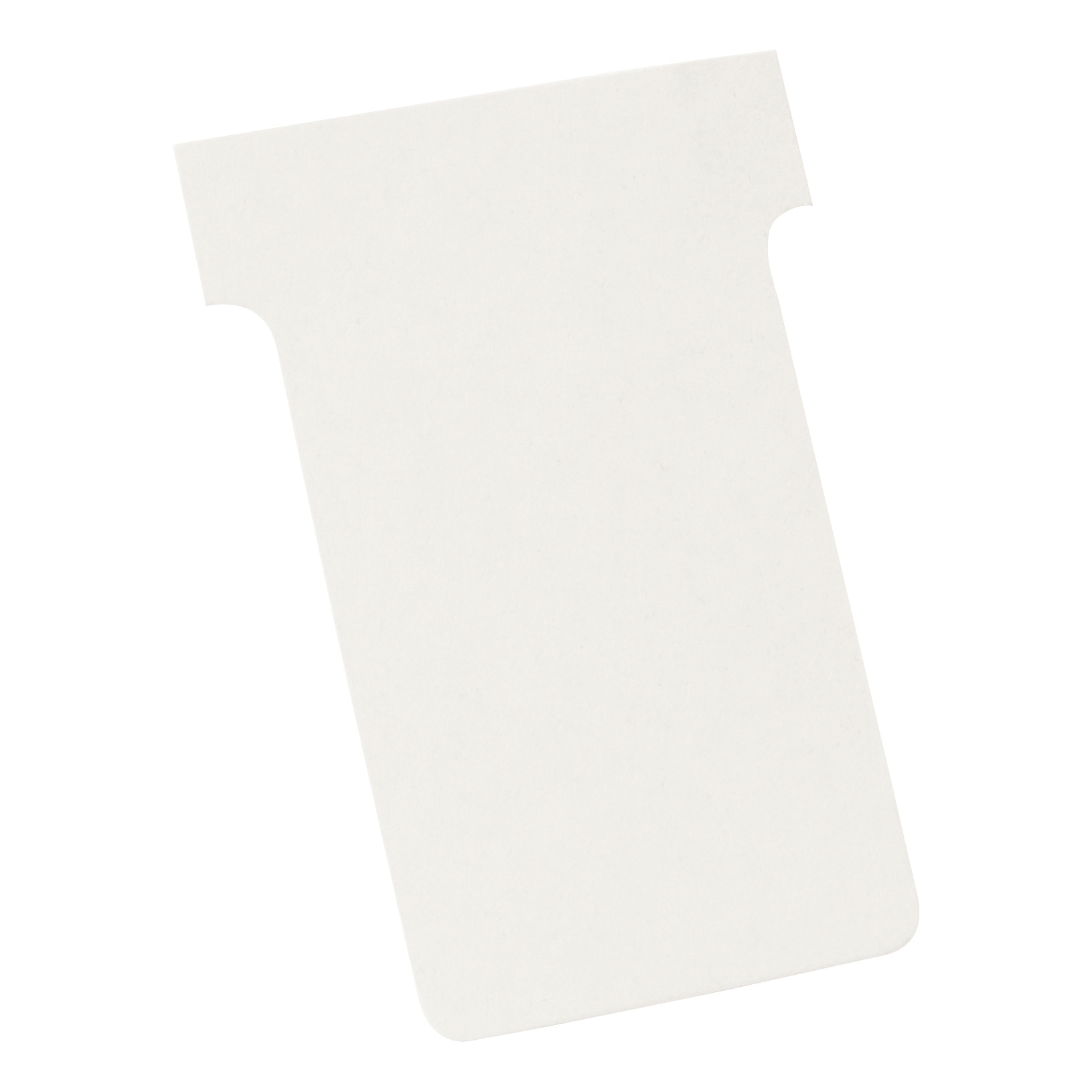 Image for Nobo T-Cards 160gsm Tab Top 15mm W61x Bottom W48.5x Full H86mm Size 2 White Ref 2002002 [Pack 100]