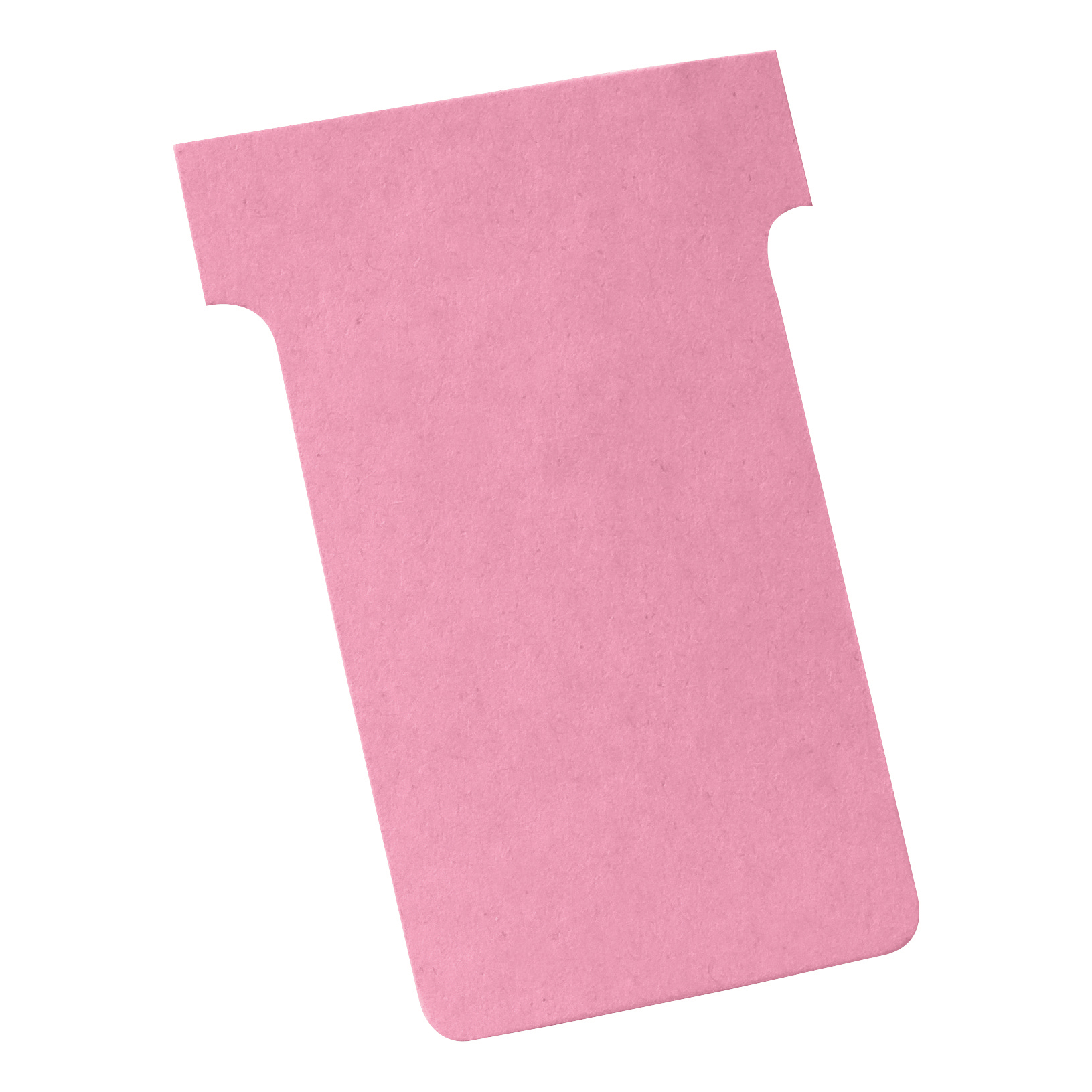 Image for Nobo T-Cards 160gsm Tab Top 15mm W61x Bottom W48.5x Full H86mm Size 2 Pink Ref 2002008 [Pack 100]