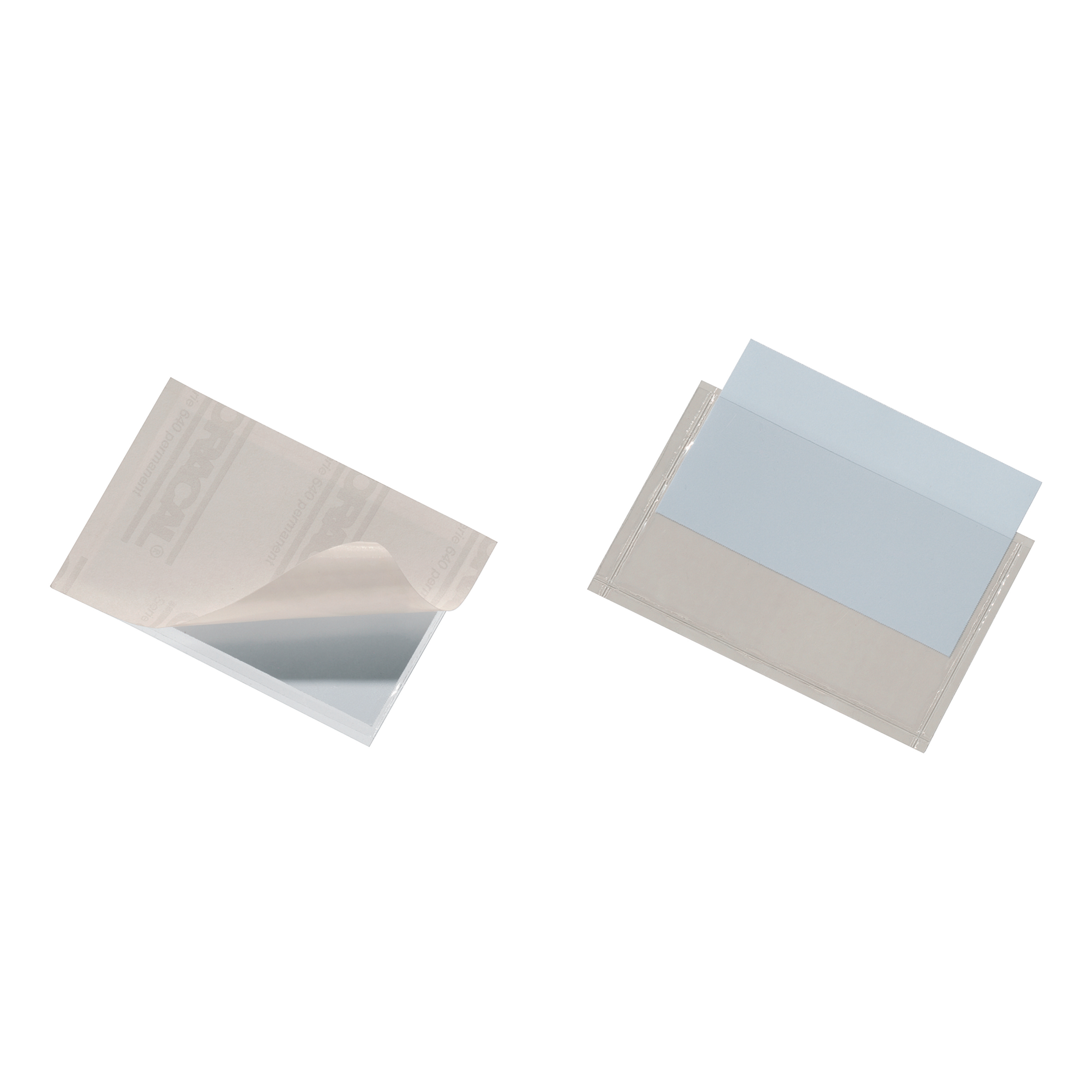 Image for Durable Pocketfix Business Card Pocket Self Adhesive Top Opening 57x90mm Ref 8093 [Pack 10]