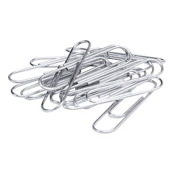 5 Star Office Paperclips Metal Large 33mm Plain [Pack 10x100]