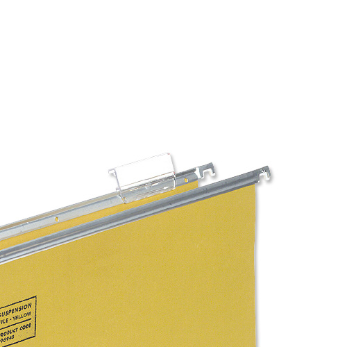 5 Star Office Plastic Tabs for Suspension File Clear [Pack 50]