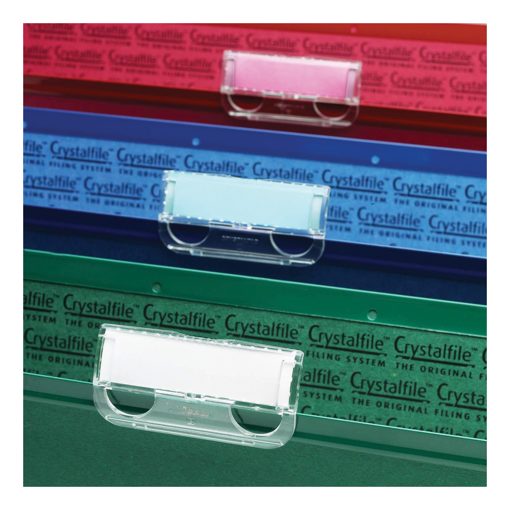 Rexel Crystalfile Tabs Plastic for Suspension Files Clear Ref 78020 [Pack 50]