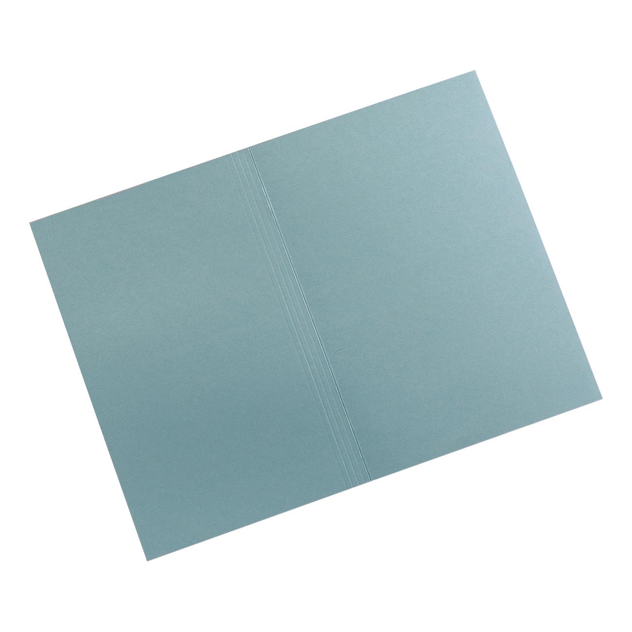 Invo Square Cut Folders Manilla 315gsm Foolscap Blue Pack 100