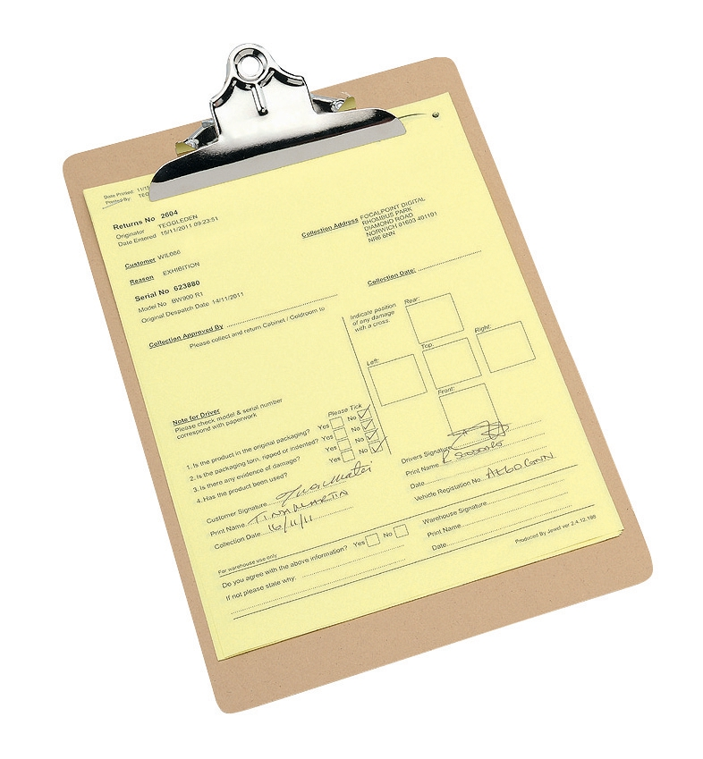 Image for Clipboard Hardboard Foolscap Brown
