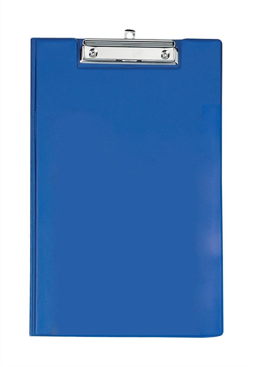 Image for Clipboard Fold Over with Pocket and Pen Holder Foolscap Blue