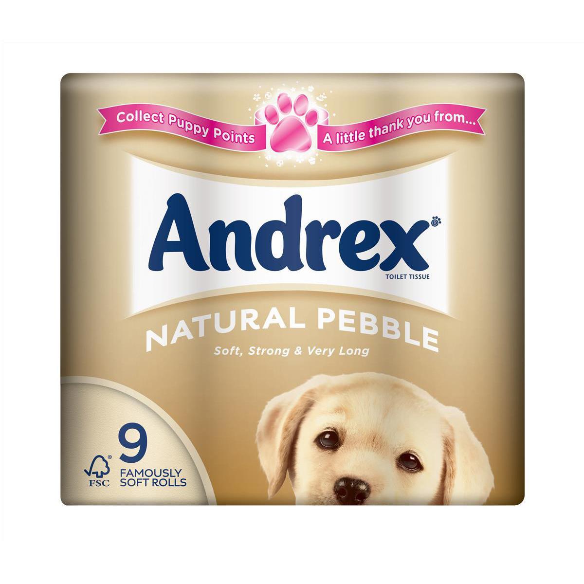 Andrex TRoll Natural Pebble Pack 9 Code VKC4974125