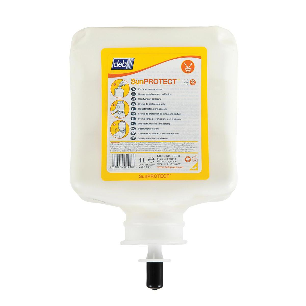 DEB Sun Protect Cream Refill Cartridge 1 Litre SPF30 Ref N03871