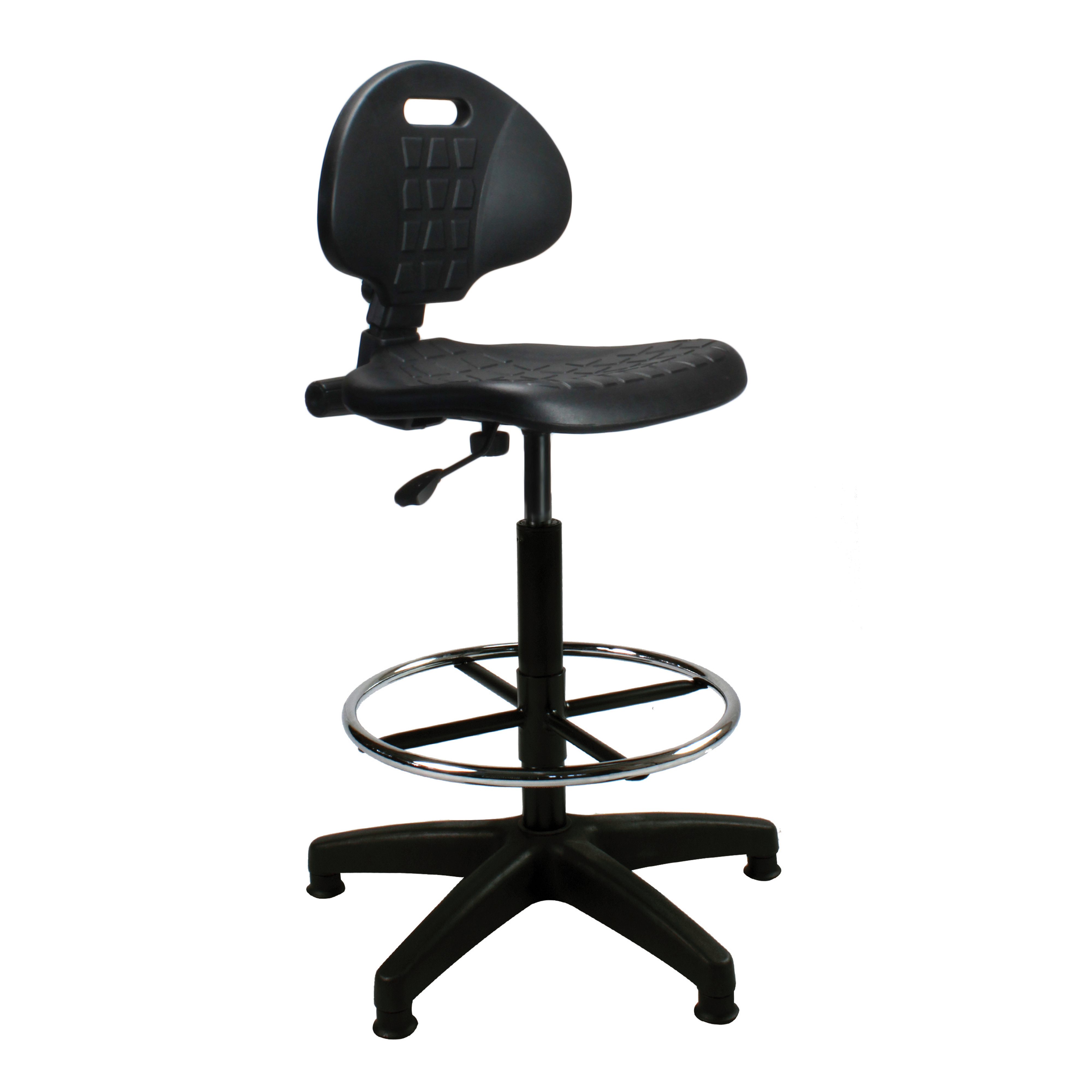 Trexus Lab High Chair Gas Lift Back H330mm Seat W470xD435xH560 810mm Black Ref