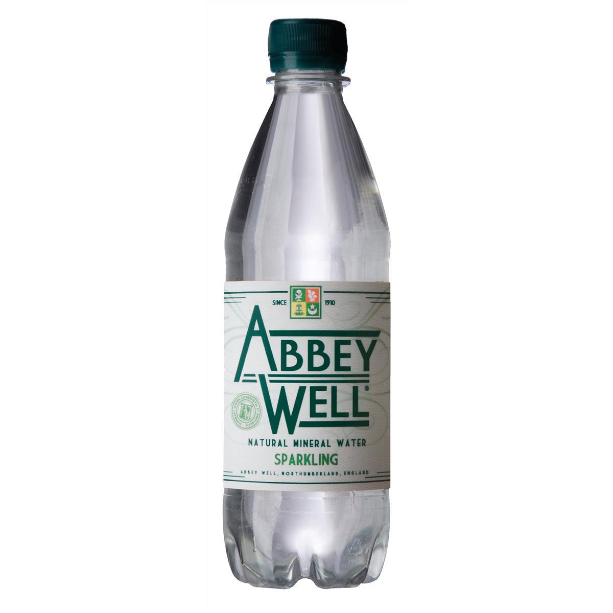 Abbey Well Natural Mineral Water Bottle Plastic Sparkling 500ml Ref 3791 [Pack 24]