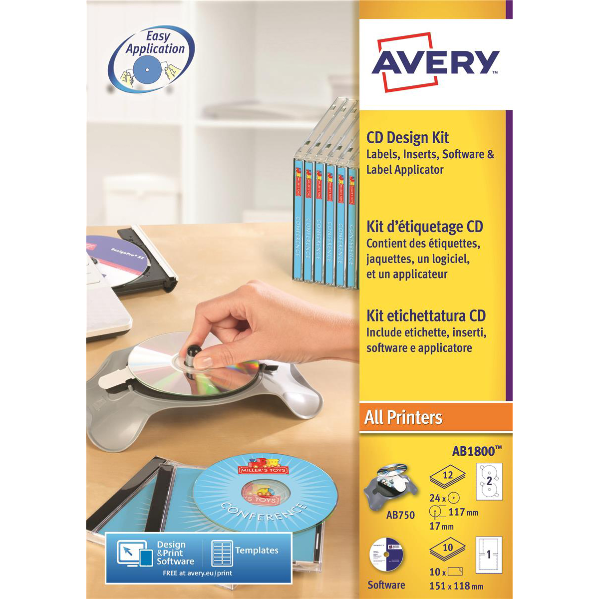 Image for Avery AfterBurner CD/DVD System AB1800