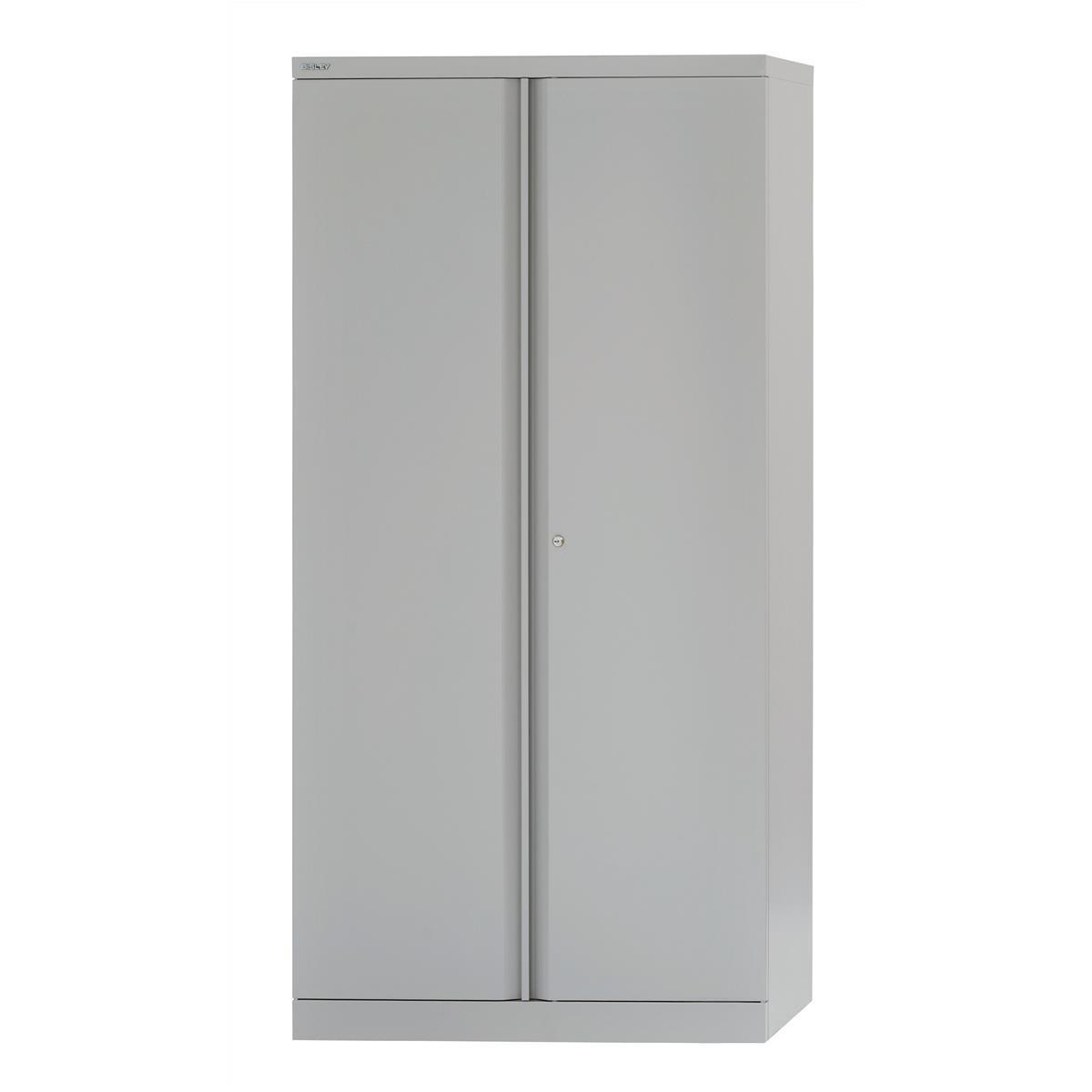 Bisley Cupboard Steel High 2-door 3-Shelf W914xD457xH1806mm Grey Ref 7236/2/S grey