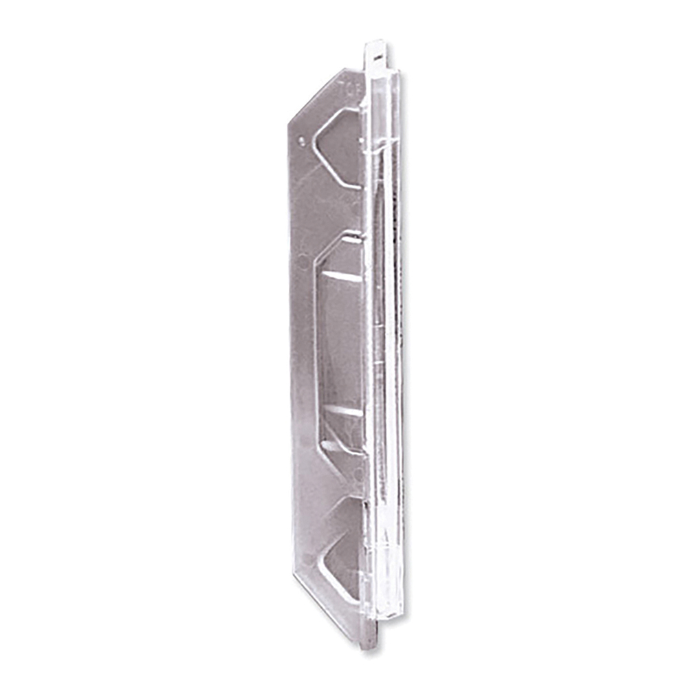 Rexel Crystalfile Extra Tabs Plastic for 330mm Lateral Files Clear Ref 70675 [Pack 25]