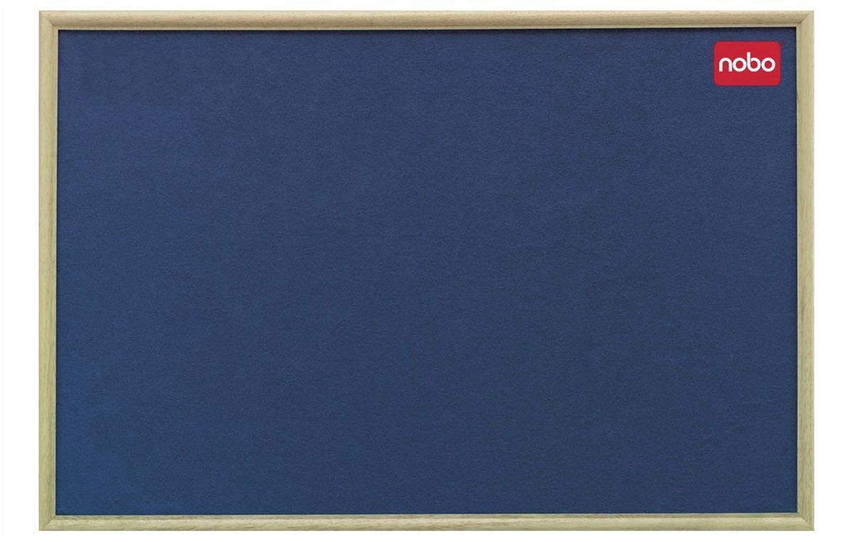 Nobo Classic Light Oak Framed Noticeboard 900x600mm Blue Code 30135004