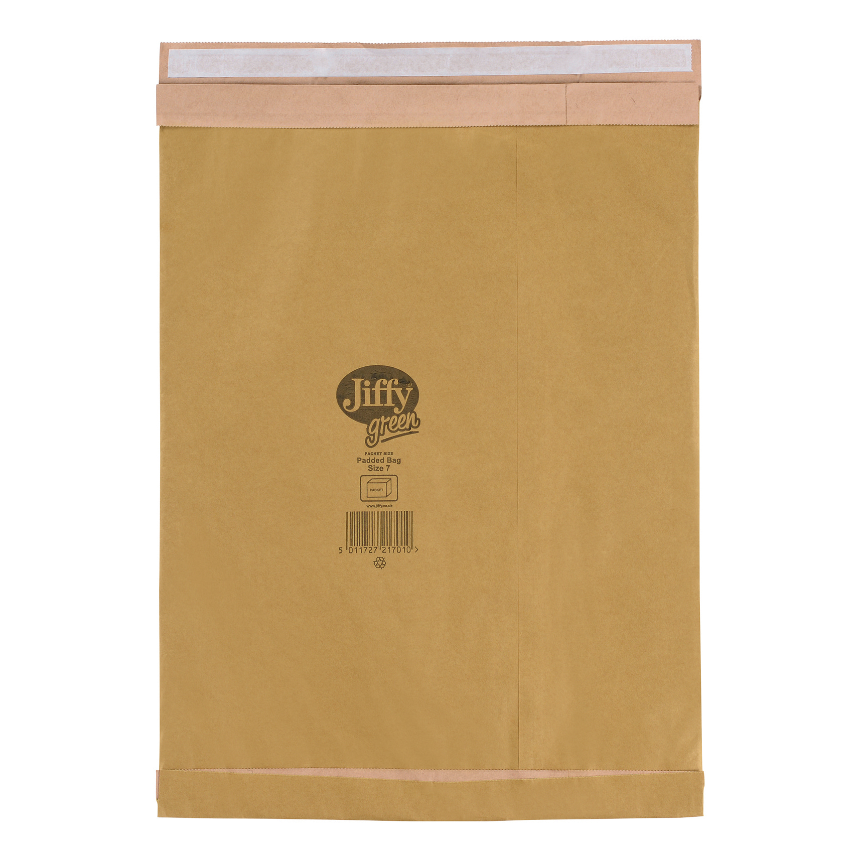Jiffy Green Padded Bags with Kraft and Recycled Paper Cushioning Size 7 341x483mm Ref 01902 [Pack 25]