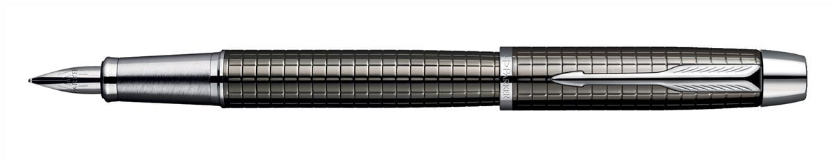 Parker Premium IM Fountain Pen Chiselled Gunmetal Lacquer and Chrome Trim Code S0908680