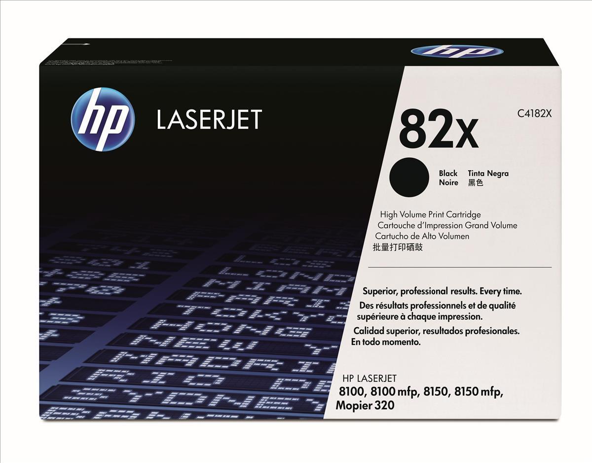 HP No.82X Laser Toner Cartridge Black Code C4182X