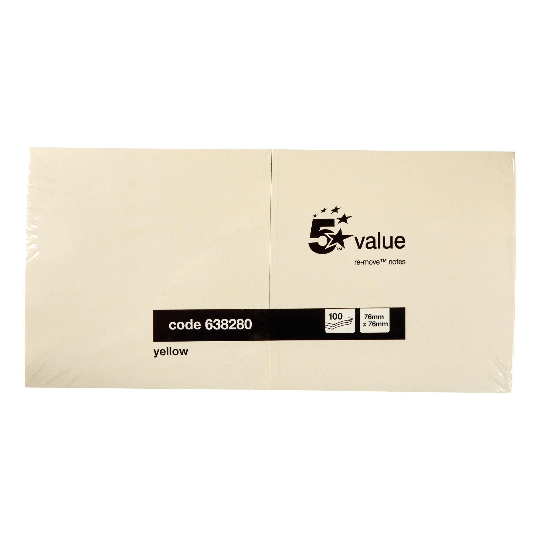White Box Repositionable Notes 3x3 Yellow