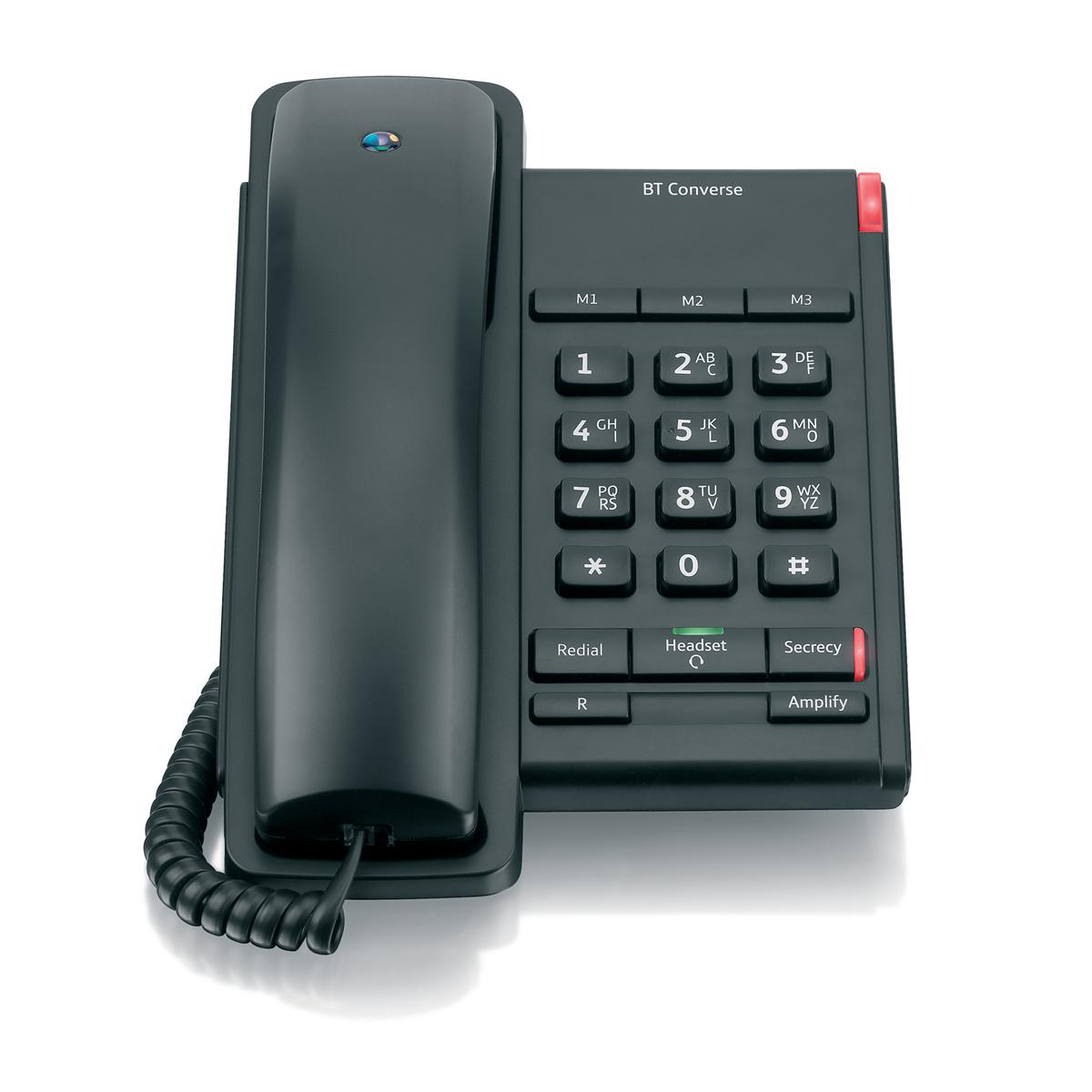 Image for BT Converse 2100 Telephone 1 Redial Mute Function 3 Number Memory Black Ref 040206