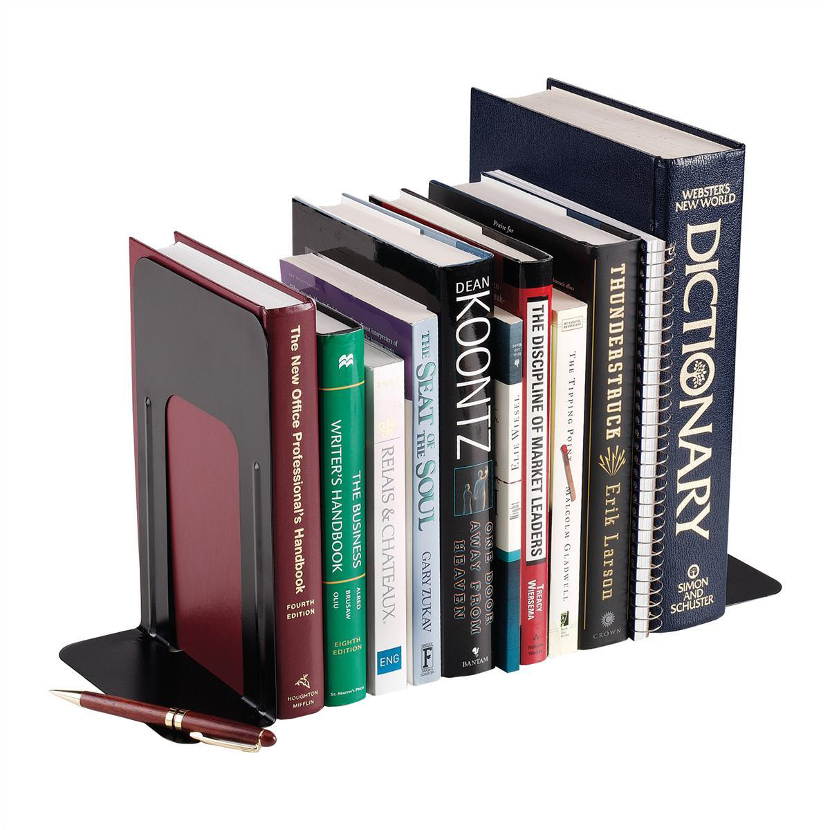 Ordinaire 5 Star Office Bookends Large Metal Black [Pack 2]