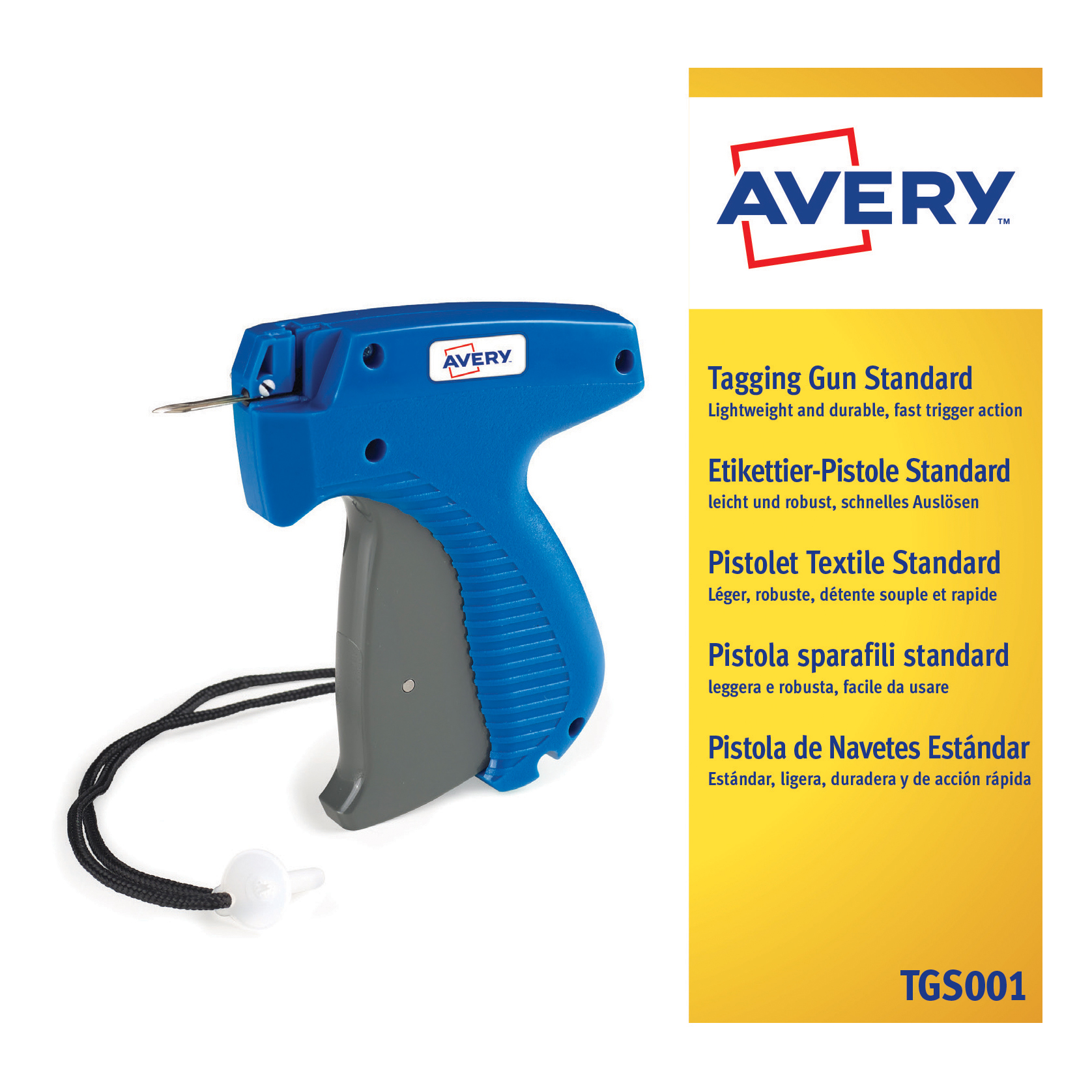 Image for Avery Standard Tagging Gun for Plastic Fasteners to Products and Tickets Ref TGS001