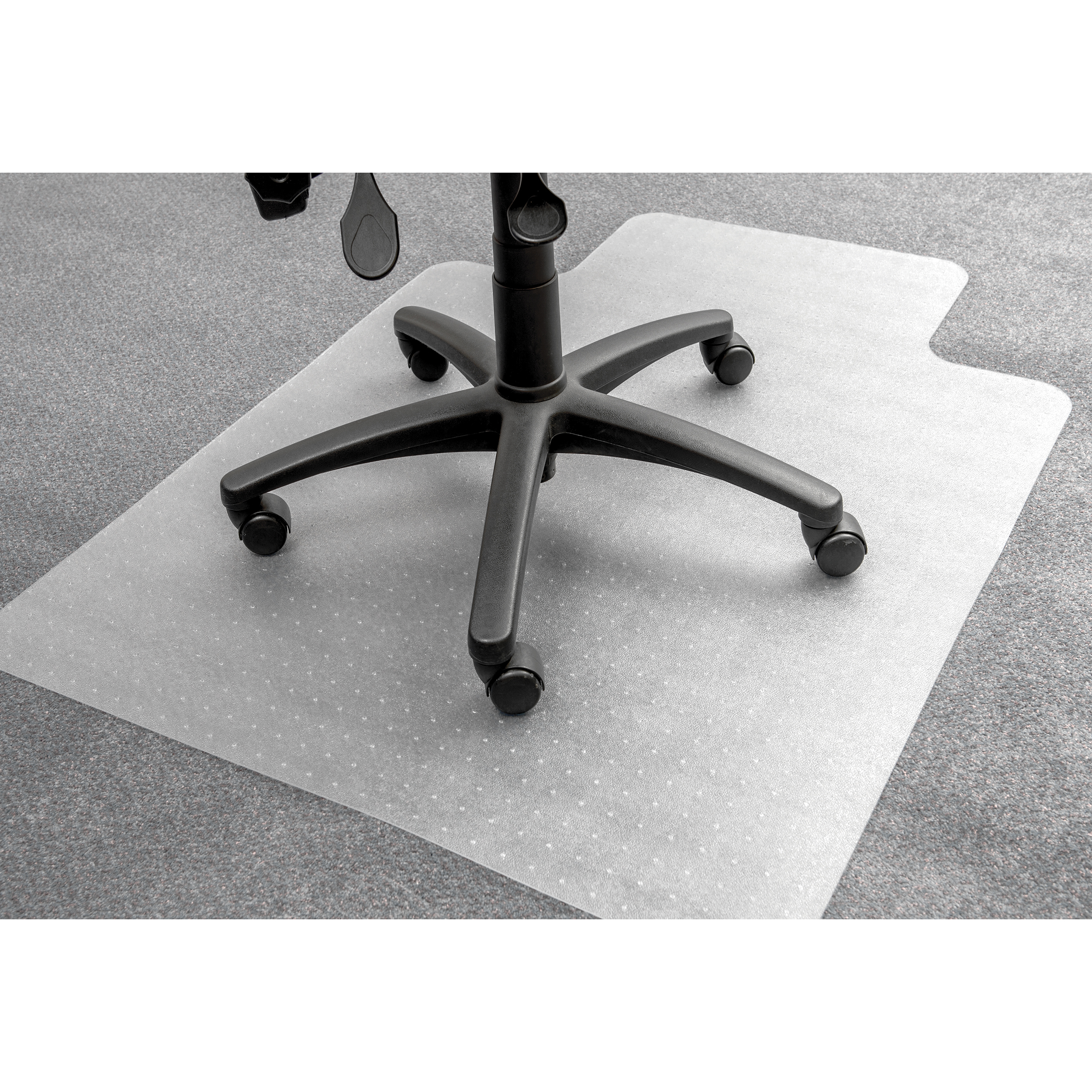 5 Star Office Chair Mat Carpet Protection PVC W900xD1200mm Clear/Transparent