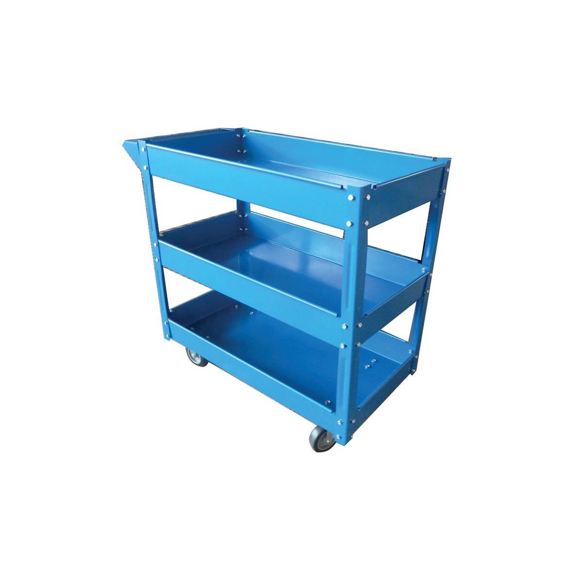 5 Star Facilities serving Trolley 3 Tier W460xD865xH840mm Blue