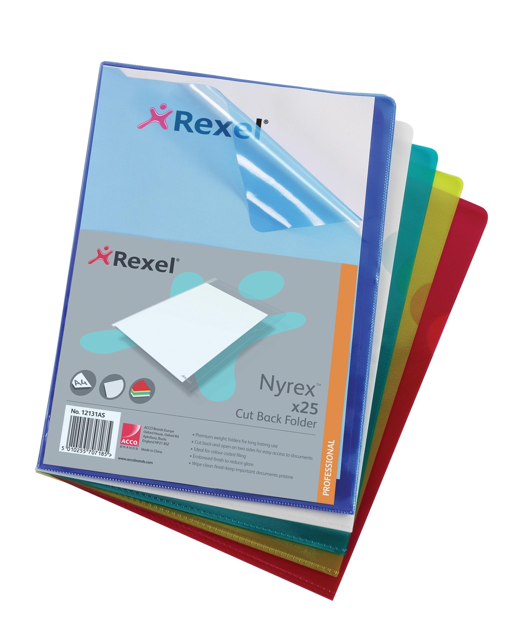 AMRexel Nyrex Folder A4 Asstdpk25Oct3/15