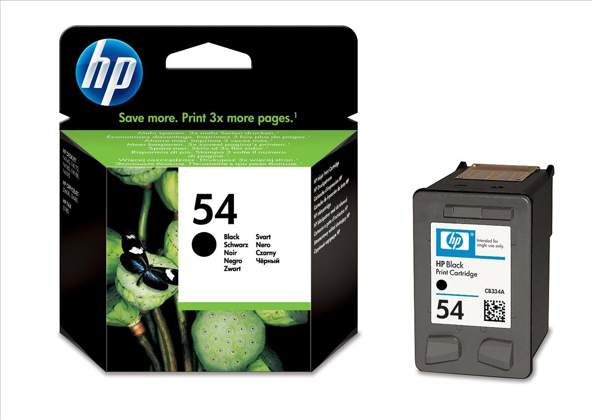 HP 54 Inkjet Cart Black CB334AE