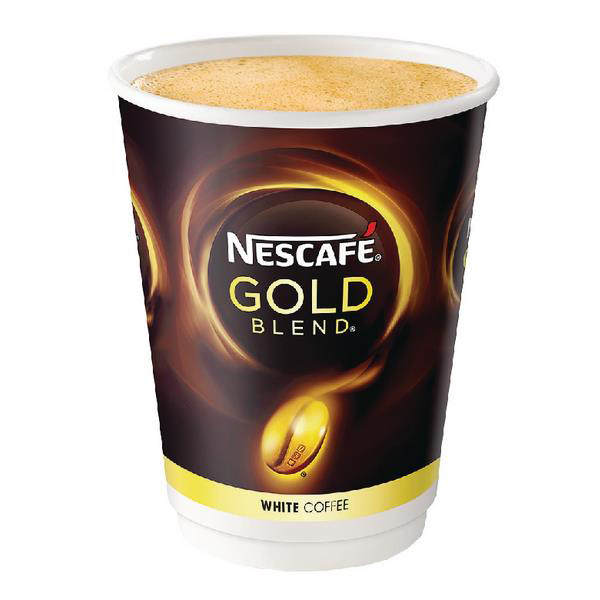 Nescafe & Go Gold Blend White Coffee Foil-sealed Cup for Drinks Machine Ref 12339281 [Pack 8]