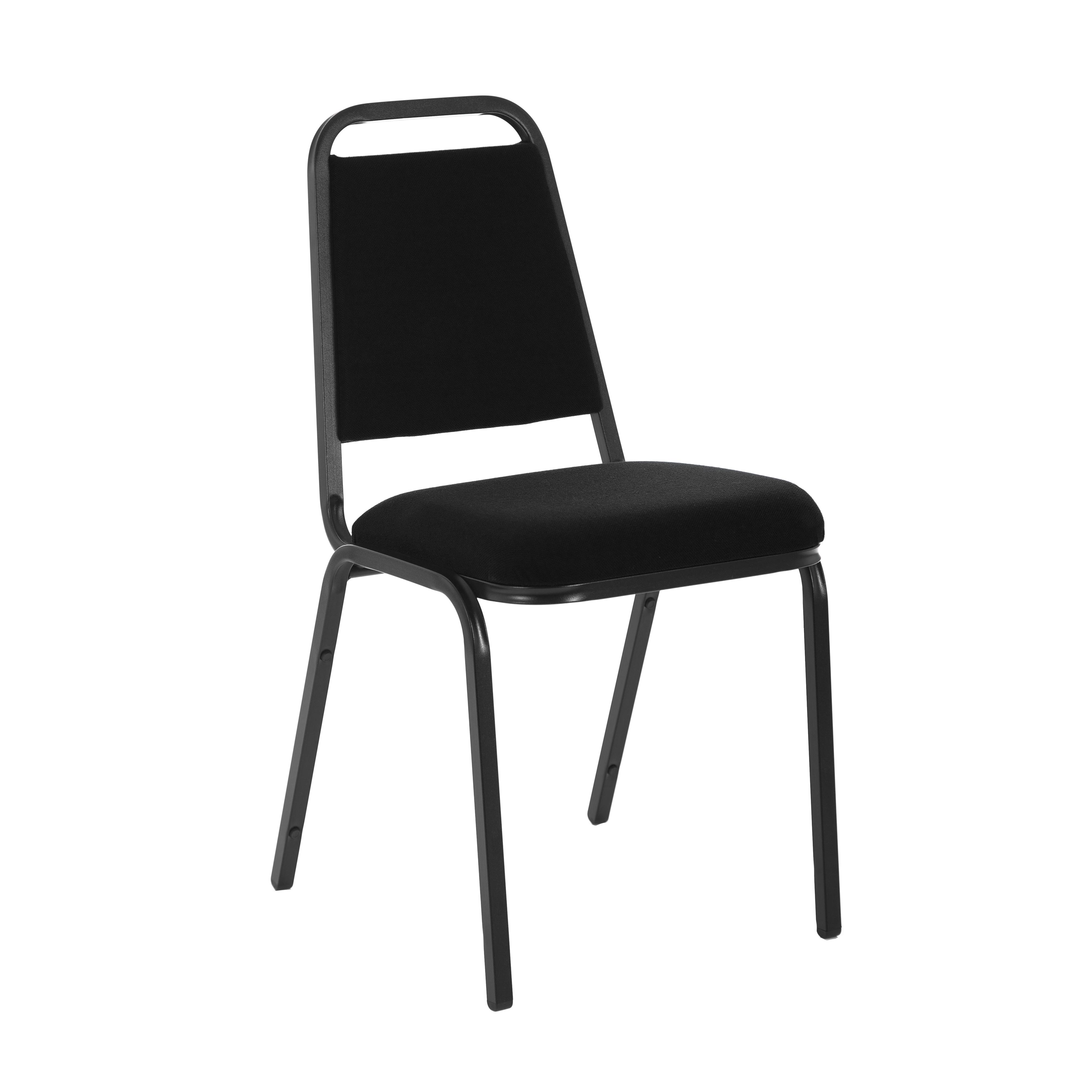 &Trexus Banquet Chair Black/Black Frame 390x355x485mm Ref