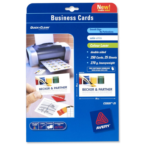 Image for Avery White Laser Business Cards Pk250