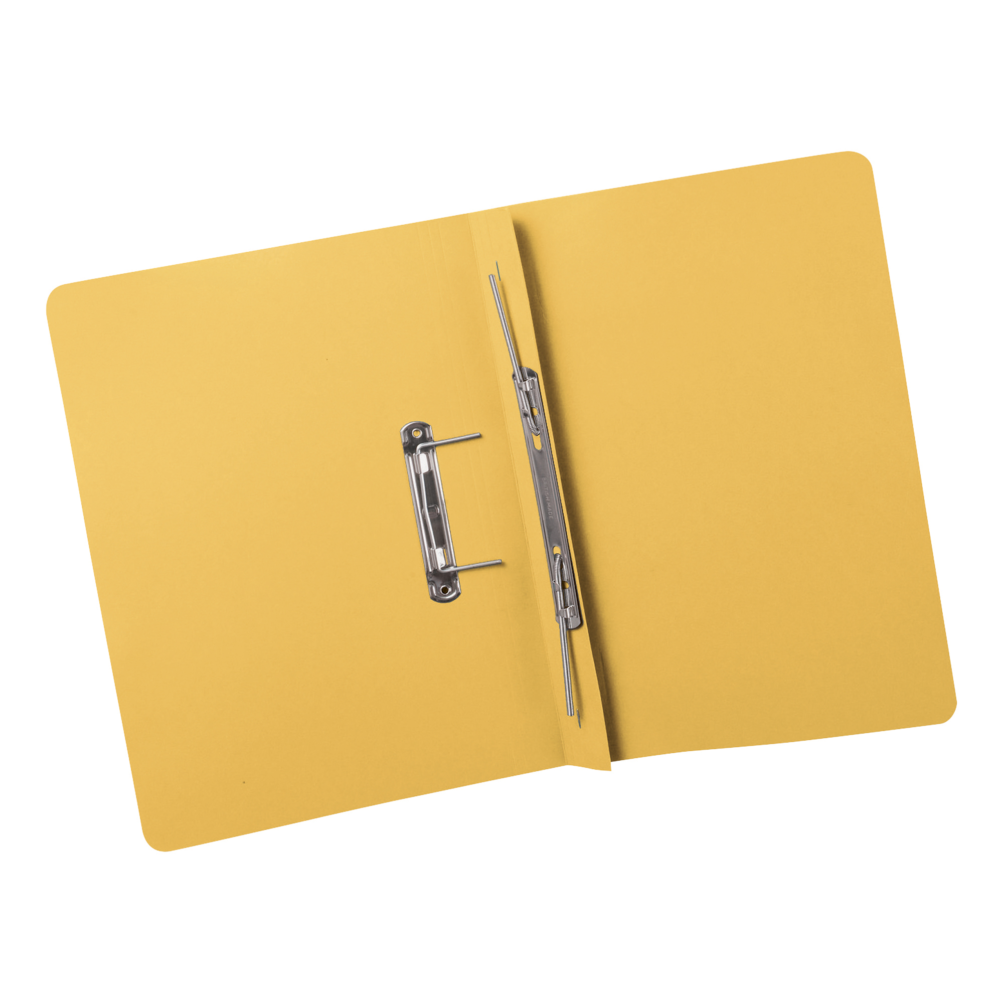 Invo Transfer Spring Files Heavyweight 380gsm Capacity 38mm Foolscap Yellow Pack 25