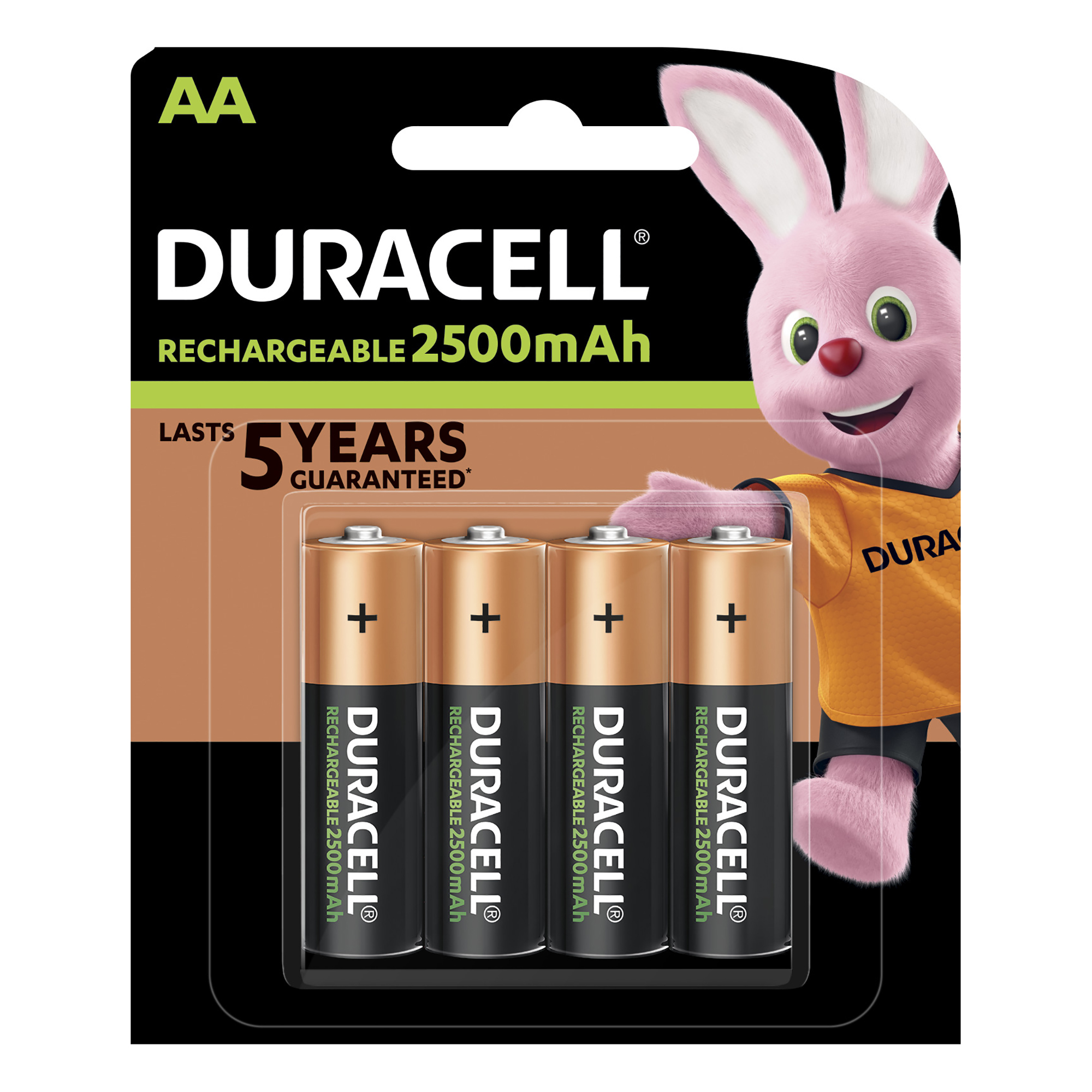 Duracell Stay Charged Battery Long-life Rechargeable 1950mAh AA Size 1.2V Ref 81418237 [Pack 4]