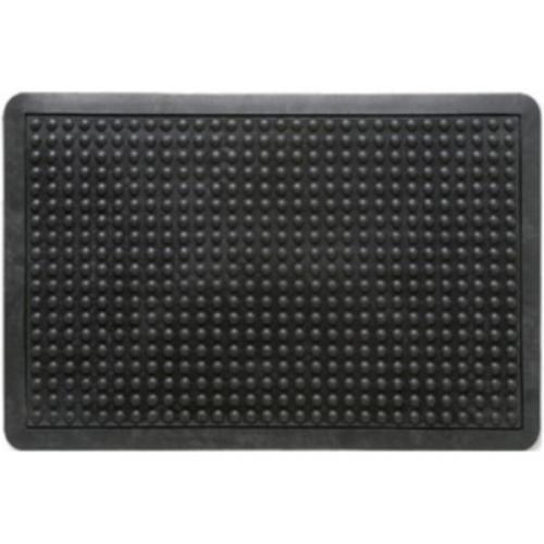 Image for Doortex Anti-fatiguemat Mat Rubber Bevelled Edge Bubble Texture 610x910mm Black Ref FCAF6191