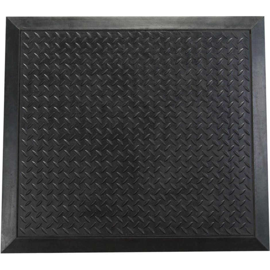 Image for Doortex Anti-fatiguemat Mat Rubber Bevelled Edge Ripple Texture 710x780mm Black Ref FCAF7178