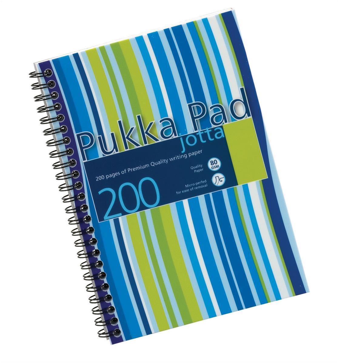 Pukka Pad Jotta Notebook Wirebound Perforated Ruled 80gsm 200pp A6 Metallic Ref JM036 [Pack 3]