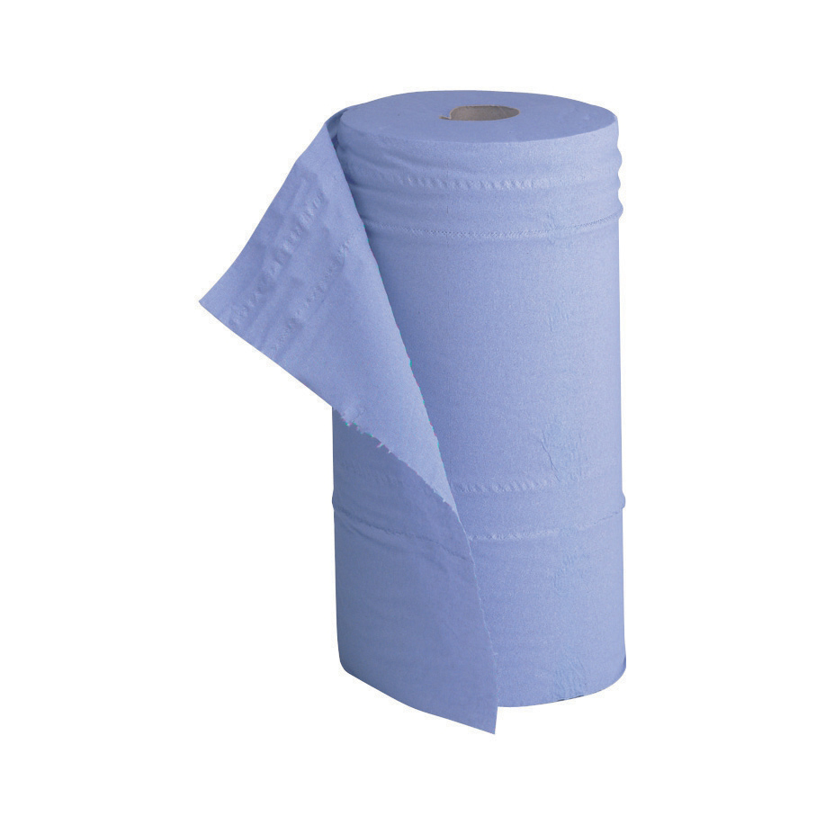 5 Star Facilities Hygiene Roll 10 Inch Width +50 per cent recycled 2-ply 130 Sheets W250xL457mm 40m Blue