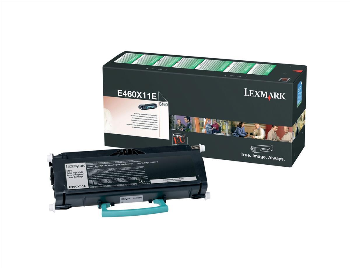 Lexmark Laser Toner Cartridge High Yield Page Life 15000pp Black Ref E460X11E
