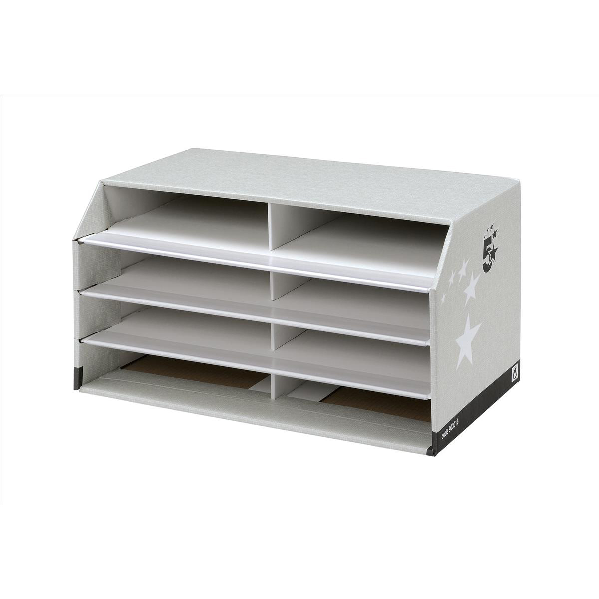 Image for 5 Star Facilities Document Sorter with 8 Compartments Grey