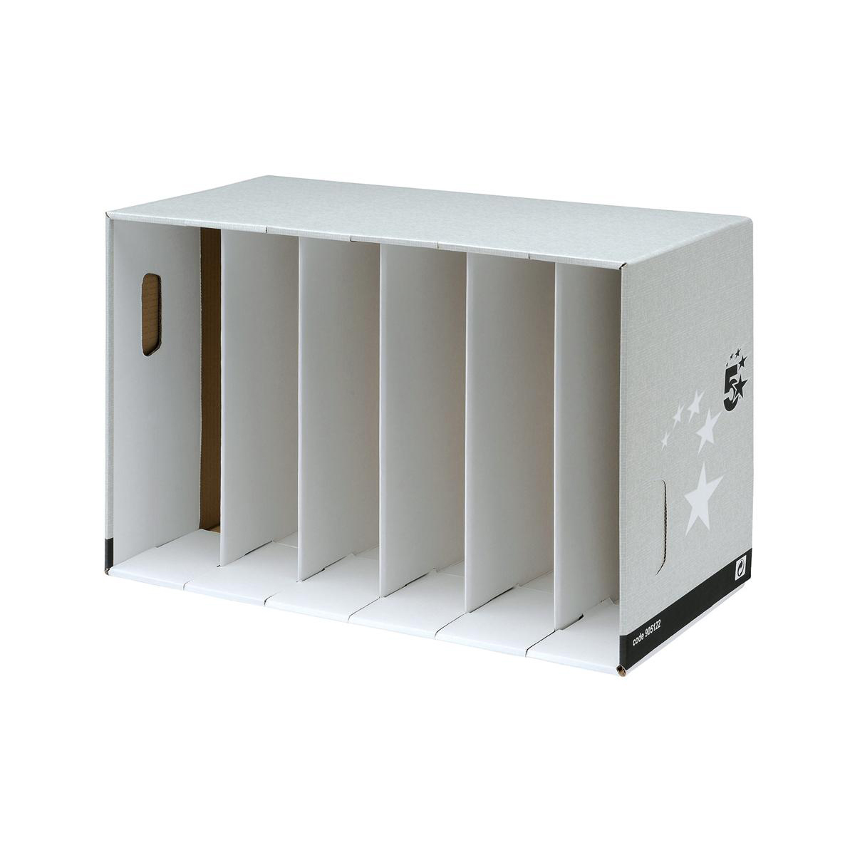 Image for 5 Star Facilities Lever Arch Module for 6 Files Grey [Pack 5]
