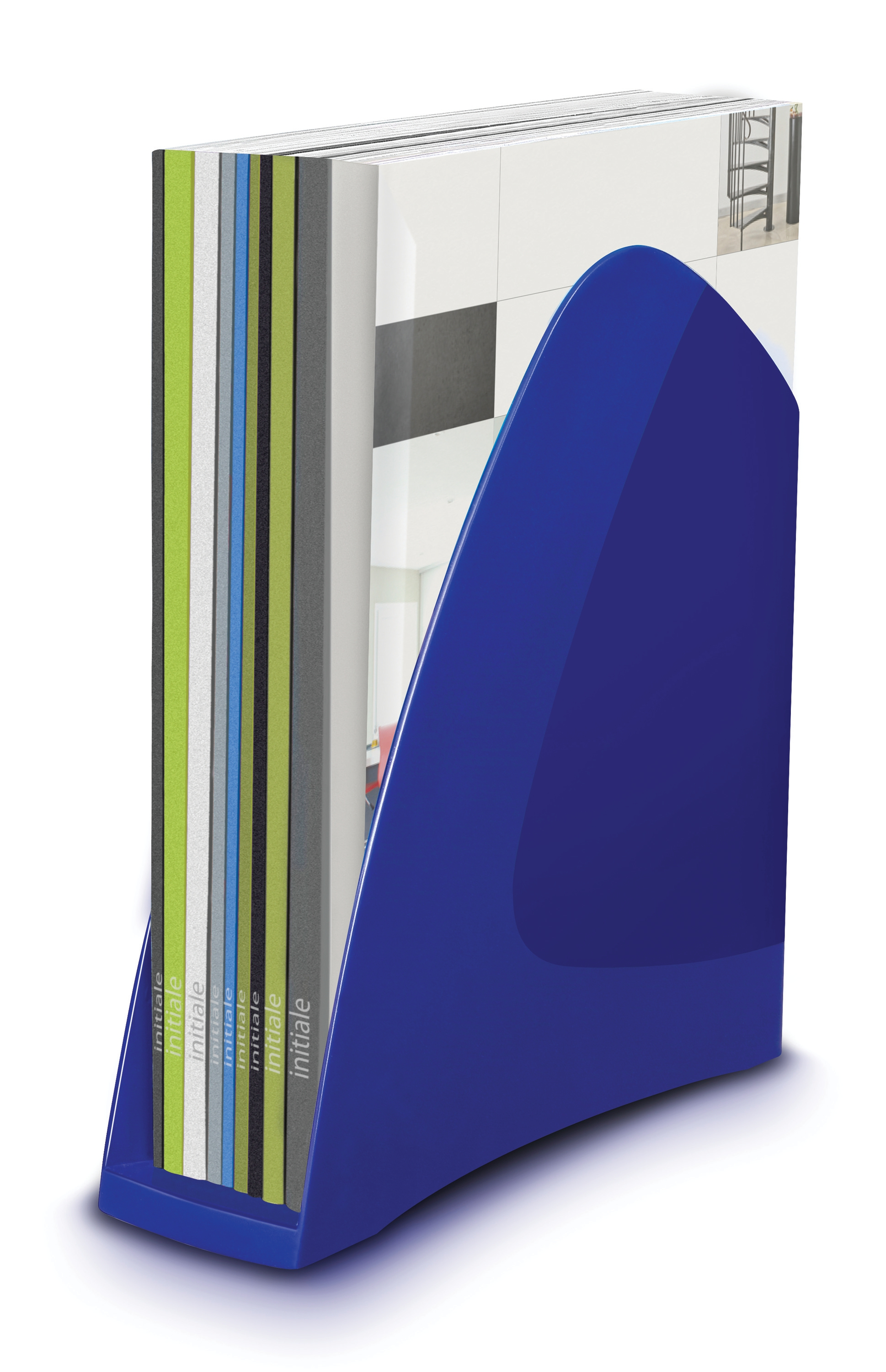 Image for 5 Star Office Magazine Rack File Low Sill W80x254x310mm Blue