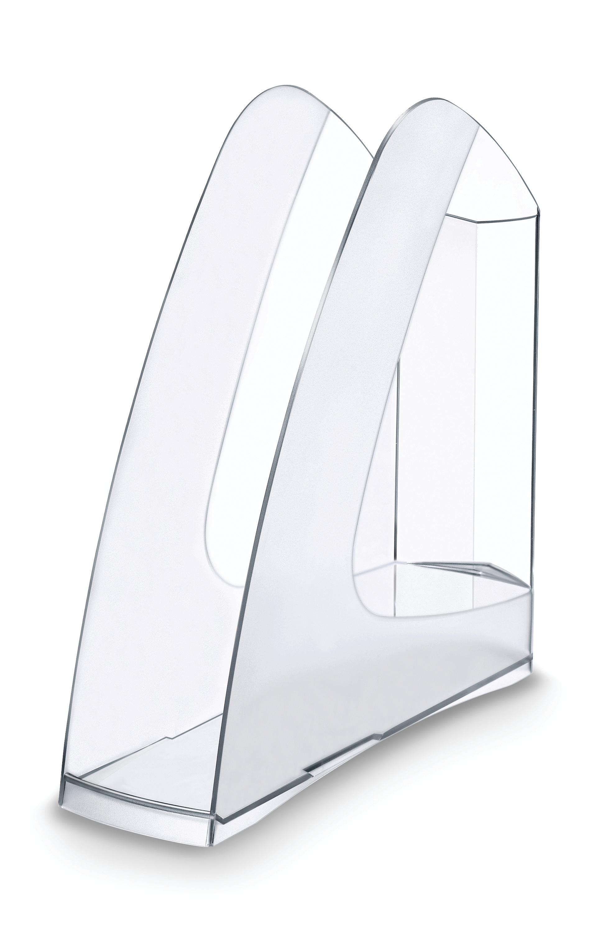 Image for 5 Star Office Magazine Rack File Low Sill W80x254x310mm Crystal