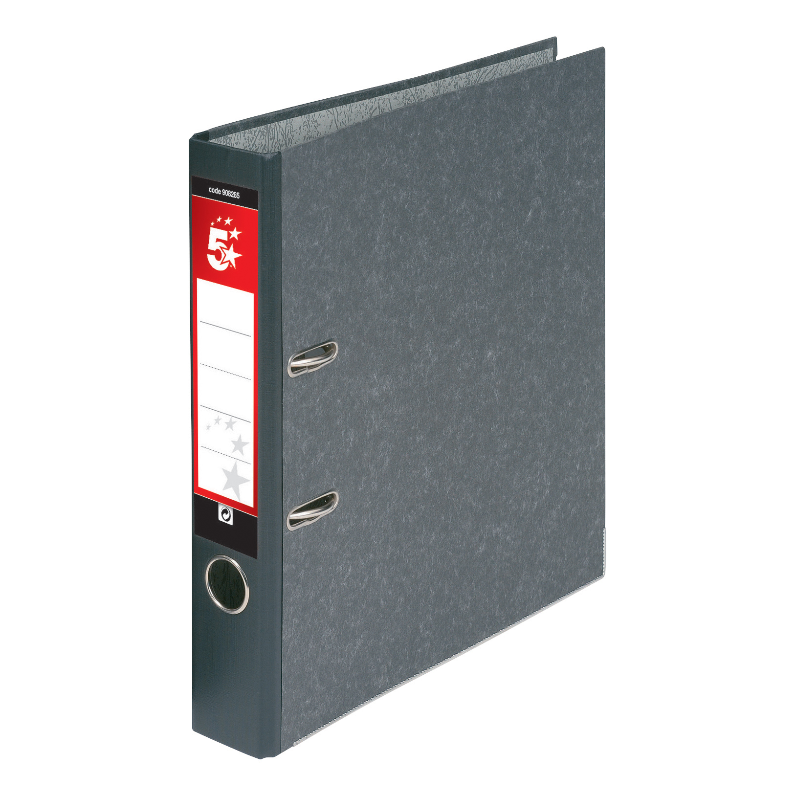 5 Star Office Mini Lever Arch File 50mm Spine Foolscap Cloudy Grey