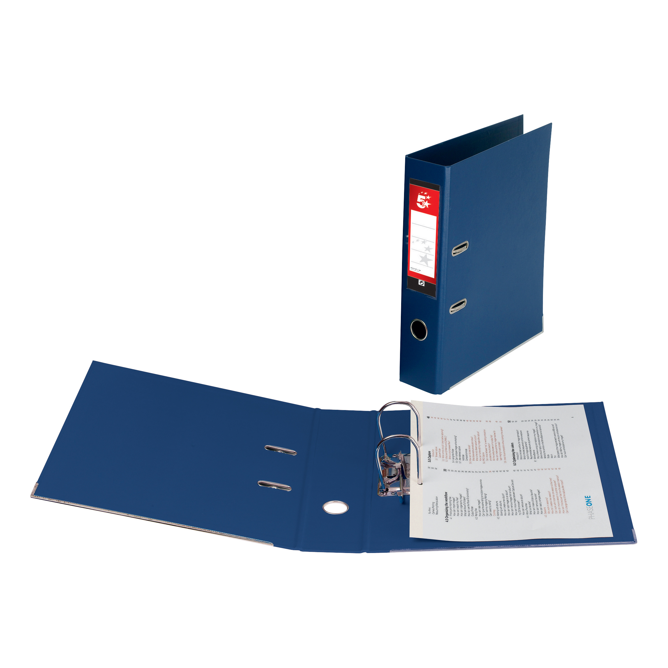 5 Star Premier Lever Arch File PVC Spine 70mm A4 Royal Blue