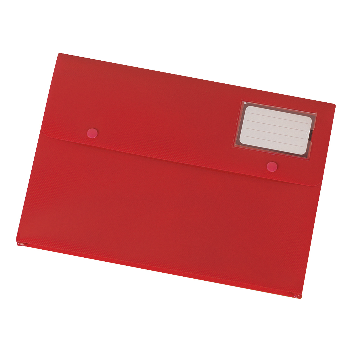 5 Star Office Document Wallet with Card Holder Polypropylene A4 Red [Pack 3]