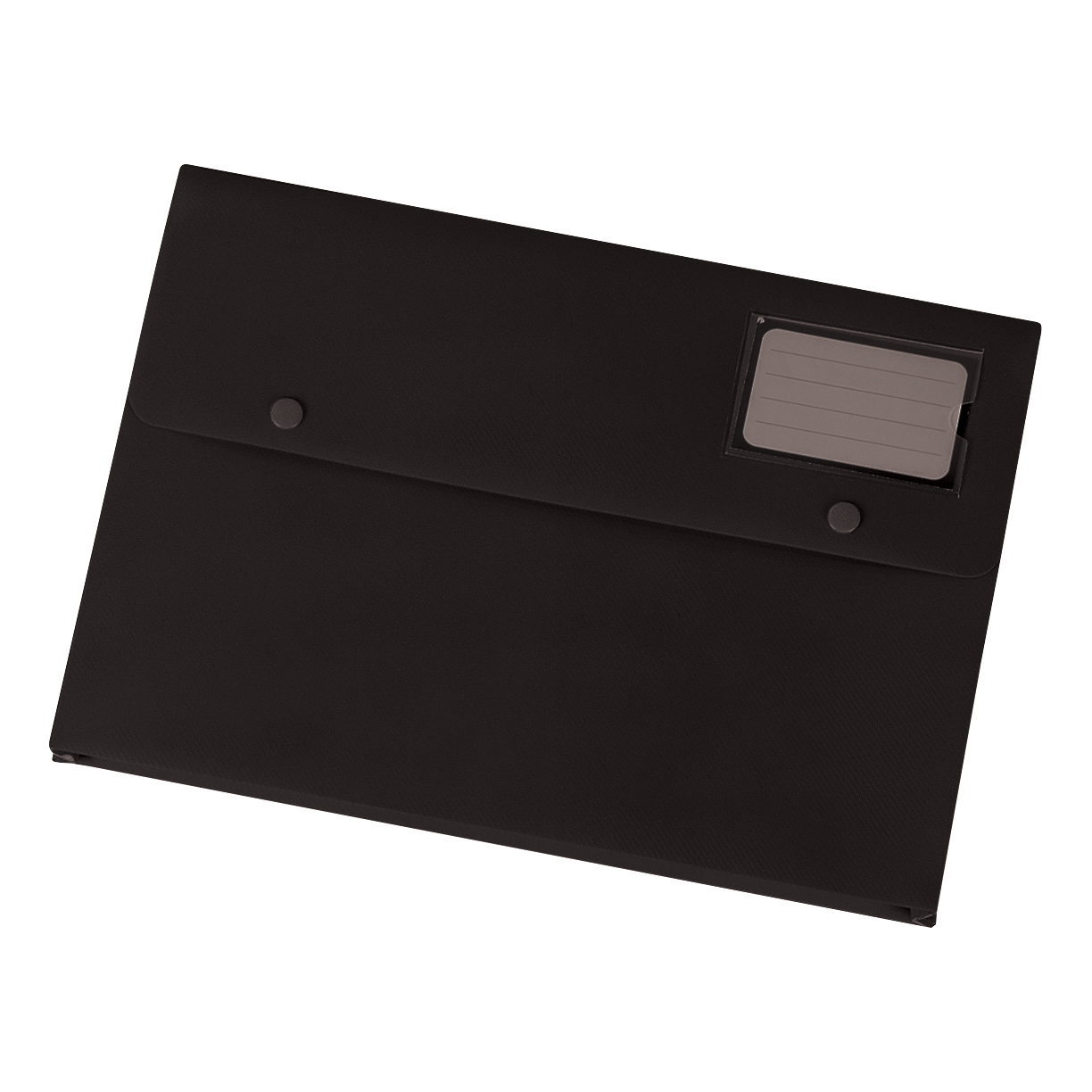 5 Star Office Document Wallet with Card Holder Polypropylene A4 Black [Pack 3]