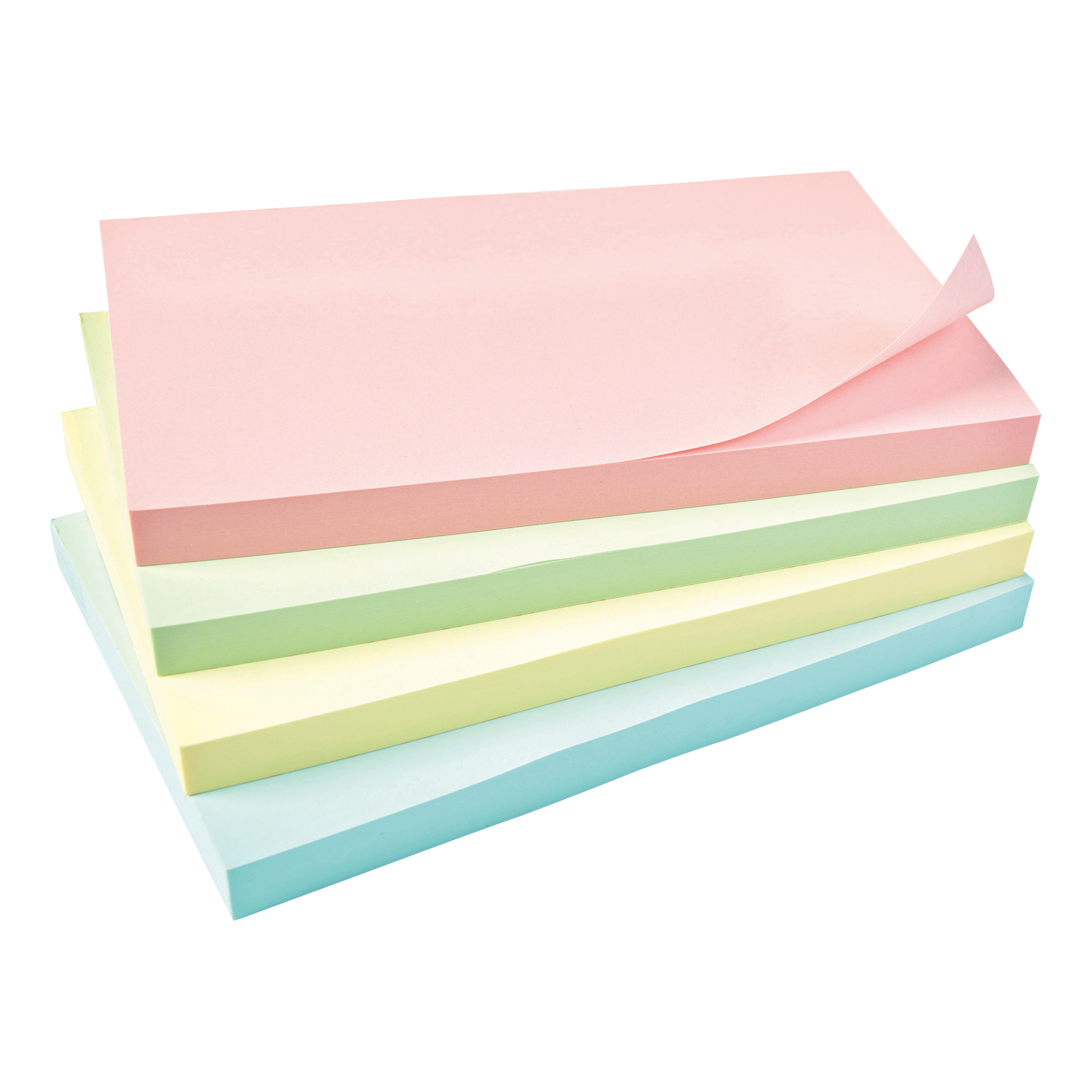 5 Star Office Re-Move Notes Repositionable Pastel Pad of 100 Sheets 76x127mm Assorted Code Pack 12