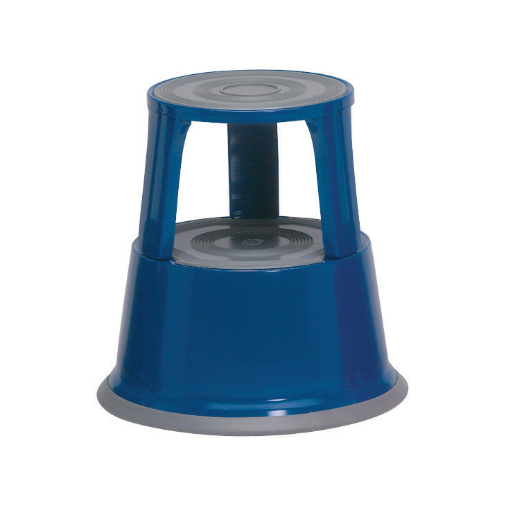 5 Star Office Step Stool Mobile Spring-loaded Castors up to 150kg Top D290x430xBase D435mm 5kg Blue