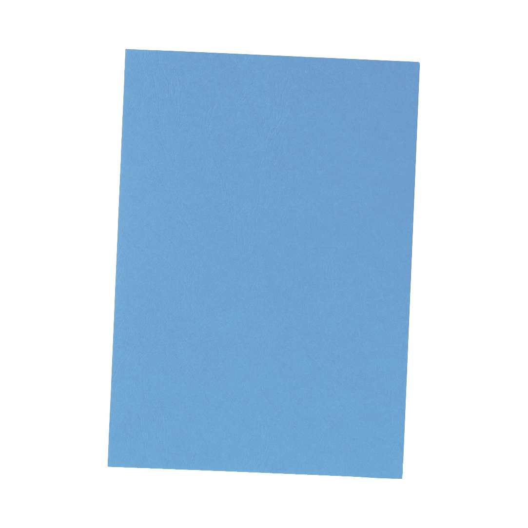 5 Star Office Binding Covers Leathergrain A4 Blue Pack 50x2