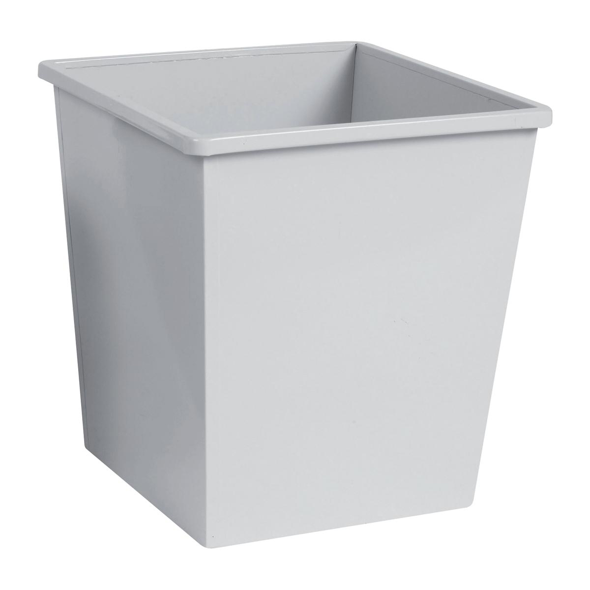 5 Star Facilities Waste Bin Square Metal Scratch Resistant W325xD325xH350mm 27 Litres Grey